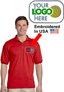 Custom Logo Embroidered Jersey Polo, Dry Blend Polo Shirt, Your Company Logo
