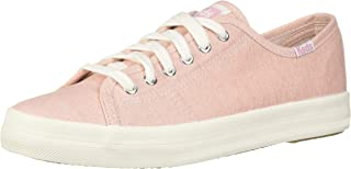 Keds Women's Kickstart Mini Chambray Sneaker, Pink, 9