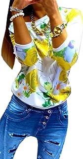c54412f5c085 COCO clothing Otoño Sudaderas de Mujer Multicolor Efecto Teñido Cuello  Redondo Blusa Casual Camisetas de Manga