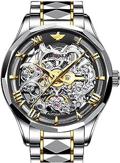 OUPINKE Mens Automatic Watch - Synthetic Sapphire Crystal and Japan Movement - Self Winder Waterproof Mechanical Wrist Wat...
