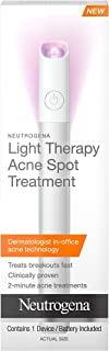 Neutrogena Light Therapy Acne Spot Treatment, Chemical & UV-Free with Clinically Proven Blue & Red Acne Light Tech...