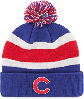 f7d087b4f47 Fan Favorite MLB Chicago Cubs Retro Breakaway Stocking Hat Beanie with Pom