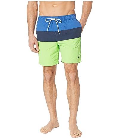 Nautica Tri-Block Swim Trunk (Fresh Lime) Men