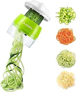 AJOXEL Coupe Légumes Spirale, 4 en 1 Spaghetti de Légumes Spiralizer Legume Trancheuse Mandoline Cuisine, Végétale Epluche...