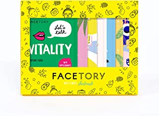 FaceTory 7 Sheet Mask Gift Set | Hydrate, Brighten, Moisturize for Glowing Skin