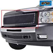 EAG Rivet Stainless Steel Mesh Grille Replacement Fit for 07-13 Chevrolet Silverado 1500