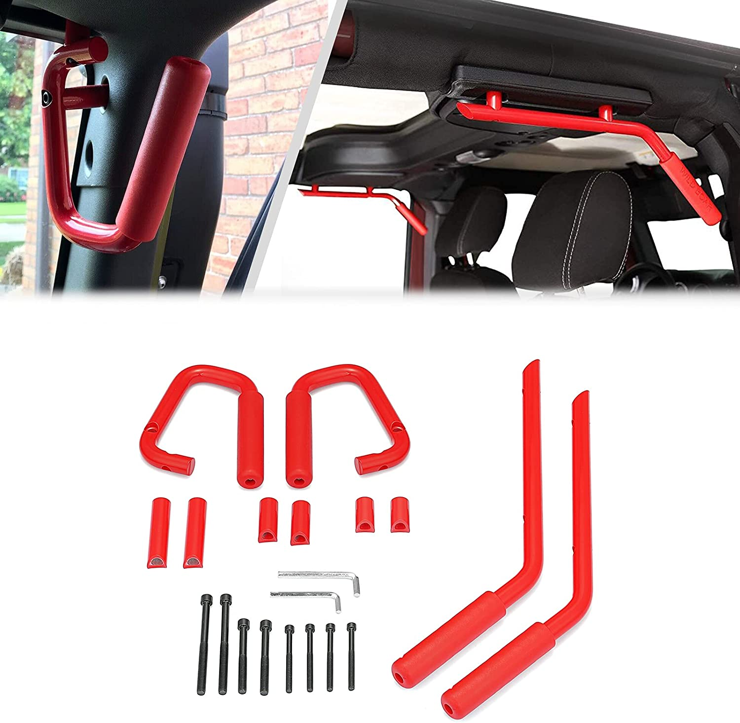 San Antonio Mall WSays Great interest Steel Front and Rear Grab Handle Bar Compatible w Set Grip
