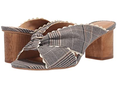 Jack Rogers Holly Plaid Mule (Midnight/Tan) Women