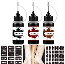 Charmark Jagua Gel Temporary Tattoo Kit for Women Men Kids Fake Tattoos Semi Permanent..
