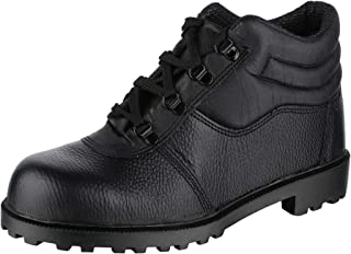 ACME Gents Copper Chimney Ultra Model Safety Shoes for Men Industrial Leather Boot Black Size -42