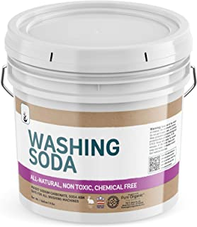 Natural Washing Soda (1 Gallon) Sodium Carbonate, Soda Ash, Stain Remover, Water Softener, Multi-Purpose Cleaner, Resealable Bucket, (Also in 5 Gallon) by Pure Organic Ingredients