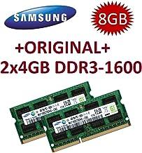 Samsung PC3-12800S CL11 - Kit de 8 GB de Doble Canal (2 x 4 GB, 204 Pines, DDR3-1600 SO-DIMM 1600 MHz, PC3-12800S