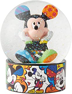 Enesco Disney by Britto Mickey Mouse Waterglobe Waterball, 5.12 Inch, Multicolor
