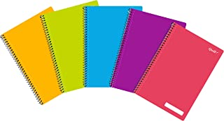 Quill, A4Notebook, Wirebound, PP, 120 Pages, Assorted Colors, Pack 5