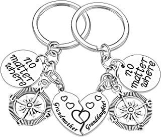 Family Keychains Set No Matter Where Long Distance Relationship Gifts For Sisters Aunt Niece Grandmother Granddaughter
