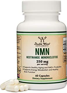 NMN Stabilized Form, 250mg Per Serving (Nicotinamide Mononucleotide), Third Party Tested, to Boost NAD+ Levels Like Ribosi...