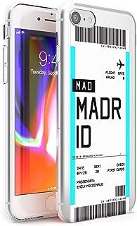Boarding Pass Personalizada De Entradas: Madrid Estuche delgado para iPhone 6, for iPhone 6s   Claro Silicona TPU Protector Ligero Ultra Thin Cubrir Modelo Impreso   Personalizado Viajero Pasión De Vi