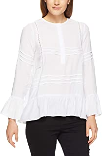 French Connection Women's Frill Detail Shirt, Summer White