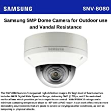 Samsung SNV-8080 5MP Vandal dome: 5MP@20FPS, Si mgple Focus, DWDR
