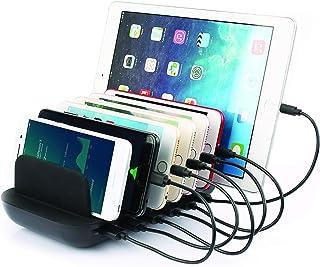 NAXA Electronics NAP-7000 7-Port USB Fast Charging Station, Black