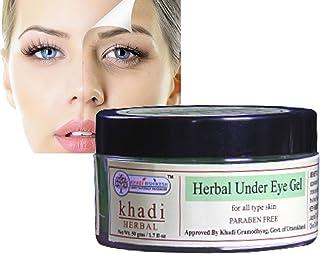 KHADI RISHKESH Herbal Under Eye Cream Gel for Dark Circles,Puffy Eyes, Wrinkles & Removal Of Fine Lines- for Women & Men -...