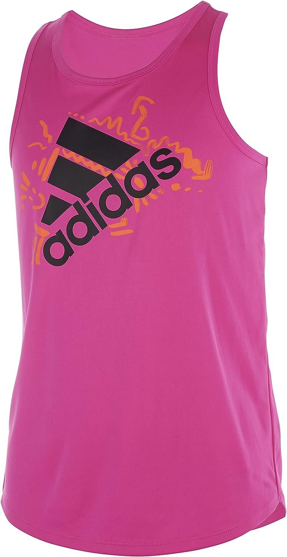 adidas girls Sleeveless Aeroready Lapped Poly Tank Top