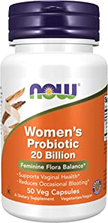 NOW Supplements, Women's Probiotic, 20 Billion, Specially Formulated using Three Clinically Tested Probiotic Strains, 50 V...