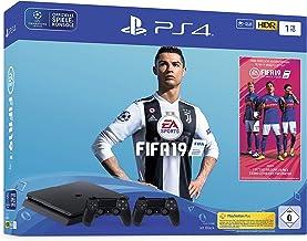 PlayStation 4 - console (1TB, zwart, slim) incl. FIFA 19 + 2 DualShock Controller