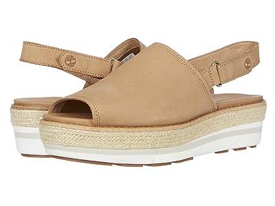 Timberland Emerson Point Sandal (Light Brown Full Grain Leather) Women