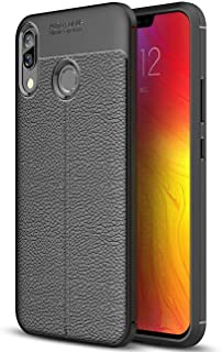 Lenovo Z5 Case, Premium Leather Pattern Case Designed By JBQ - Black (The Artisan Crafted Edition),