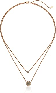 Womens Grey Mother-of-Pearl and Rose Gold Multi-Strand Necklace