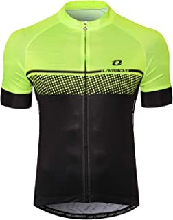 LAMEDA Mens Full Zip Moisture Wicking Short Sleeve Cycling Jersey Breathable Running Tops
