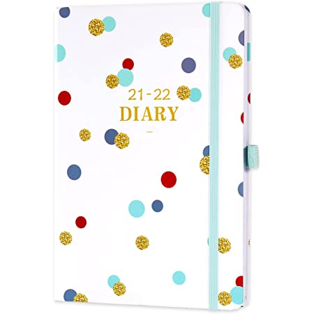 Amazon Brand - Eono Diary 2021-2022, A5 Week to View Planner from July 2021 to June 2022 with Hardcover, Pen Loop and Back Pocket, 21.3 x 14.7 x 1.6 cm
