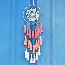 pink and blue dreamcatcher