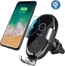 OMERIL Caricatore Wireless Auto, IR Ricarica Wireless da Auto QI Supporto 10W/7.5W/5W per iPhone XR/XS Max/XS/X/8, Samsung Galaxy S9/S9+/S8/S7/Note 8, Huawei Mate 20 Pro/P30 Pro, Xiaomi Mix 2S e Altri