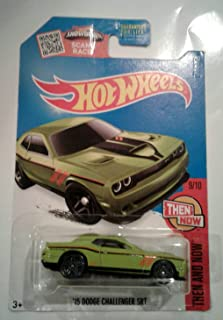 Hot Wheels 2016 Then and Now '15 Dodge Challenger SRT 109/250, Exclusive Lime Green