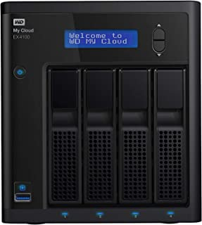 WD 16 TB My Cloud EX4100 Expert Series 4-Bay Network Attached Storage - WDBWZE0160KBK-EESN