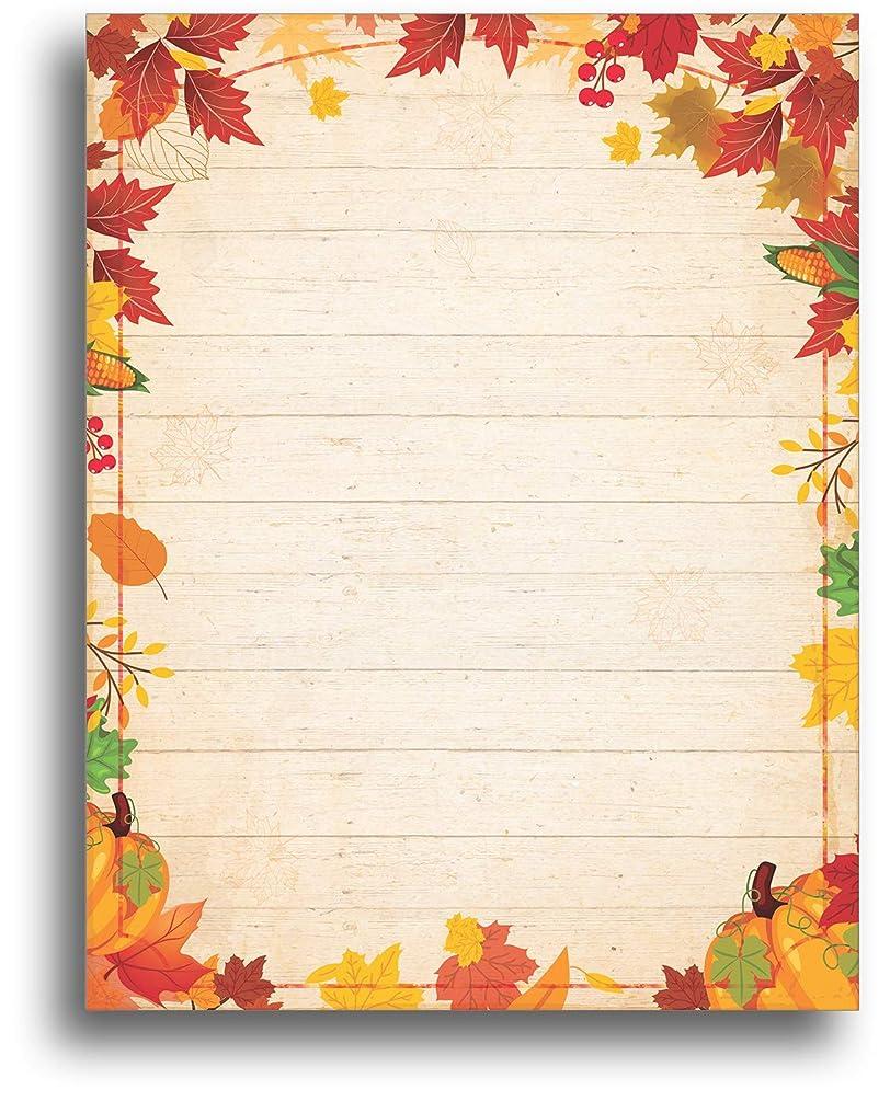 端末フロント見込みFall Barnyard Leaves 文房具用紙 80枚