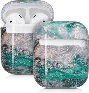 kwmobile hörlurar fodral kompatibelt med Apple AirPods – repskydd tvådelad öronsnäcka – AirPod marmor flerfärgad, AirPod M...