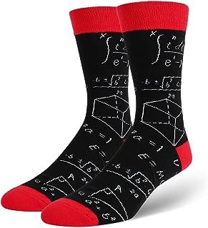 Men's Novelty Funny Crew Socks Crazy Food Cat Math Shark Whale Llama Pattern