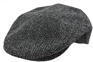 Tweed Cap Grey Herringbone Made in Ireland