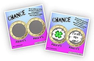 Carte à gratter personnalisable - Message au choix - Annonce originale grossesse ou événement - Modèle ticket de jeu Chanc...