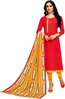 Silk Embroidered Salwar Kameez with Rayon Dupatta Indian Pakistani Dress