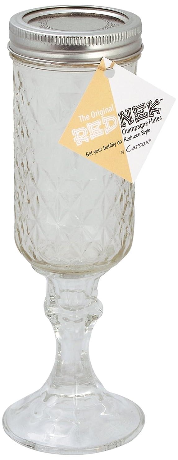 勤勉王朝断片Carson Home Accents The Original Rednek Champagne Flutes, Set of two