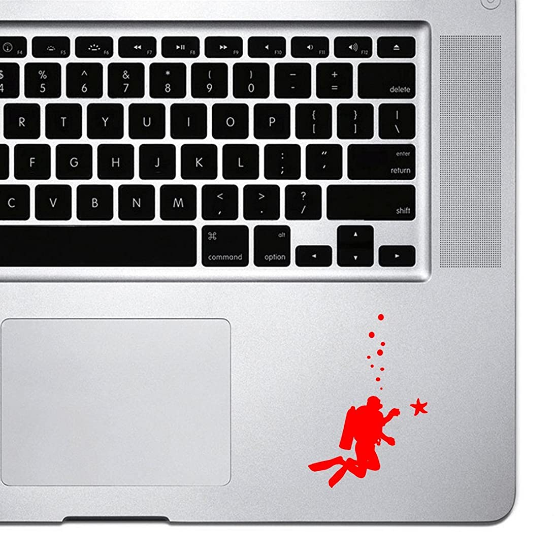 StickAny Palm Series Scuba Diver Starfish Sticker for Macbook Pro, Chromebook, and Laptops (Red) mgltjptgora776