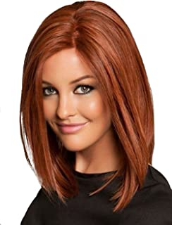 BESTUNG Short Bob Wig Red Wigs for Women Cosplay Wig Straight Halloween Costume Wigs 13Inch