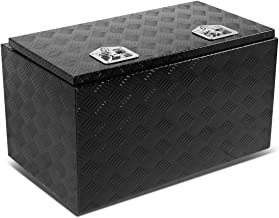 30 inchesx18 inchesx16 inches Aluminum Pickup Truck Bed Trailer Key Lock Storage Tool Box (Black)