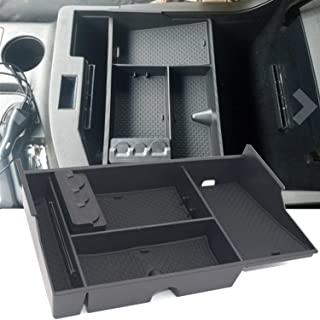 JOJOMARK for Toyota Tundra Accessories Center Console Organizer for Sequoia 2008-19/ Tundra 2007-2019 Insert ABS Armrest Box Secondary Storage