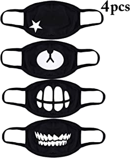 Mouth Mask,Aniwon 4 Pack Unisex Kpop Mask EXO Mask Anti-dust Cotton Face Mask for Men and Women (Combination 2)