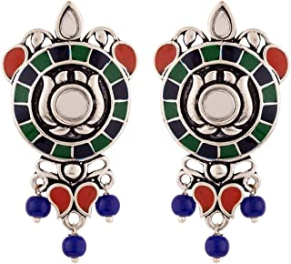 Voylla Drop Earrings for Women (Multi-Colour)(8907617854922)